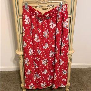 Adorable floral skirt LOFT